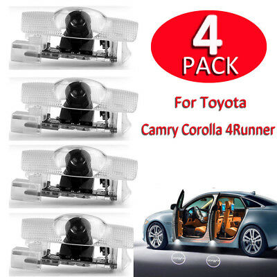 4 x Car Door Courtesy LED Projector Ghost Shadow Light for Toyota Welcome Lights