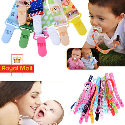 Lovely Dummy Clip Baby Soother Clips Chain Holder Pacifier Strap Various Design