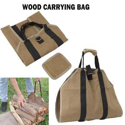 Log Tote Bag Outdoor Fireplace Carrier Portable Storage Carry Wood Firewood Camp