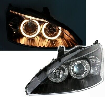 Angel Eyes Scheinwerfer Set Ford Focus 1 11/01-10/04 Facelift in Schwarz MK1