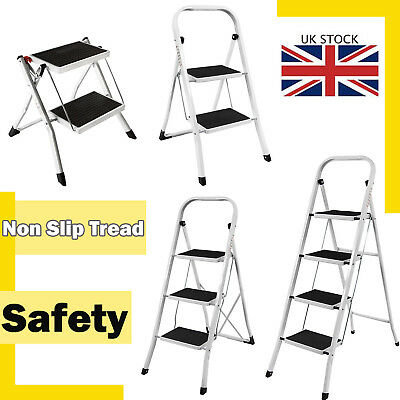 Heavy Duty Small 2 Step 2 3 4 Step Steal Ladder Portable Folding Anti-Slip Mat