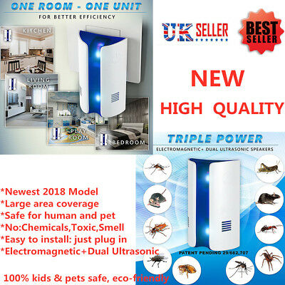 Ultrasonic Electronic Rat Mouse Spider Mosquito Insect Pest Repeller Deterrent