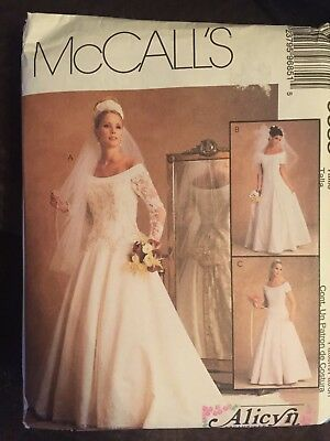 McCall's Misses' Bridal Gown Dress Alicyn Pattern 9685 Size 16-20 UNCUT