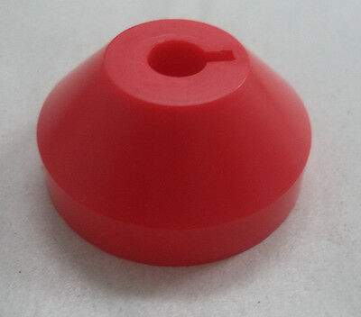 """1 Plastic Dome Adapter Insert for 7"""" 45 RPM Vinyl Record (Adaptor, Red, One)"""