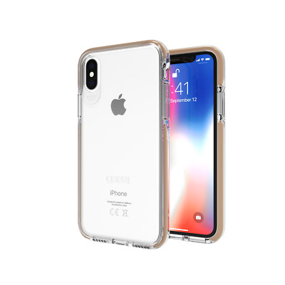genuine Gear4 Piccadilly Case for iPhone X / XS with D30 Impact Protection gold