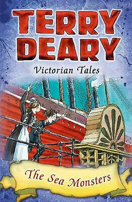 Victorian Tales: the Sea Monsters by Terry Deary Paperback Book Free Shipping!