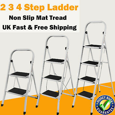2 3 4 Step Ladder Safety Non Slip Mat Tread Foldable Kitchen Home By Day Plus