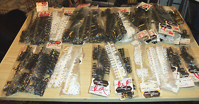 3D Scoll Plastics Letters & Numbers White Black LARGE Lot for Signs & Crafts