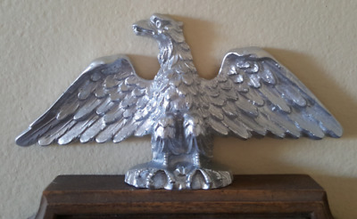 Gustav Becker Junghans Antique Wall Pendulum Clock Silver Eagle Topper Finial