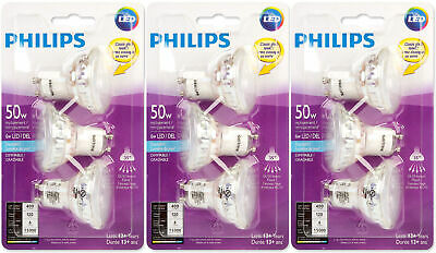 PHILIPS 465104 LED 50W Equiv. GU10 Daylight Bulb, 9 Pack