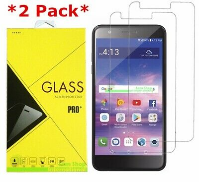 2-Pack Premium Tempered Glass Screen Protector For LG (Rebel 4) 4G LTE