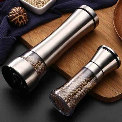 Kitchen Accessory Glass Stainless Steel Manual Pepper Salt Spice Mill Grinder