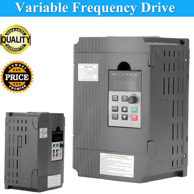 1.5KW 220V Single/3 Phase VFD Variable Frequency Drive Speed Controller Inverter