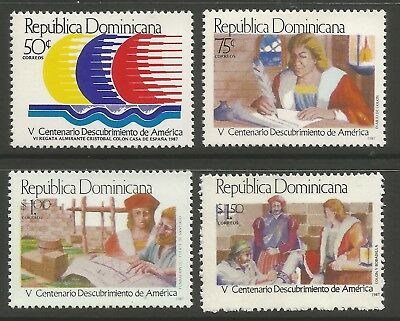 STAMPS-DOMINICAN REPUBLIC. 1987. Discovery of America Set.  SG: 1683/86. MNH.