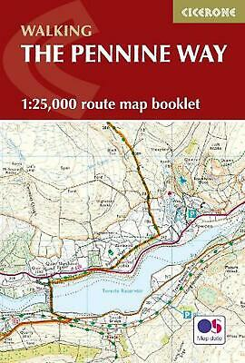 Pennine Way Map Booklet: 1:25,000 OS Route Mapping by Paddy Dillon Paperback Boo