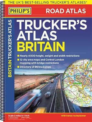 Philip's Trucker's Road Atlas of Britain by Philip's Philip's Spiral Book Free S