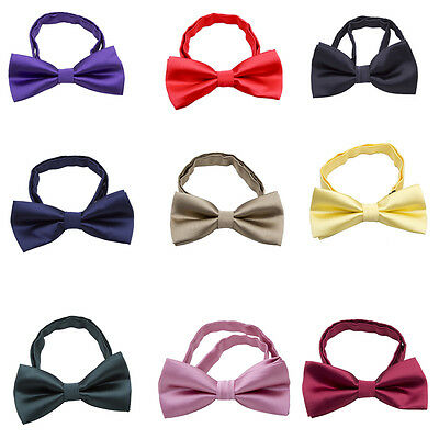 Children Kids Boys Toddler Bow Tie Pre-Tied Wedding Party Bow Neck Tie Necktie