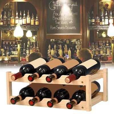 Solid Wood Household Wine Rack Creative Wooden Red Wine Bottle Storage Rack NEW