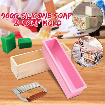 Silicone Soap Mold Wood Box Loaf Cake Maker Cutting Slicer Making Cutter Tools
