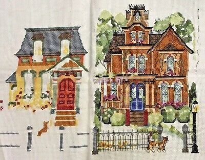 "Janlynn Counted Cross Stitch Kit GOLDEN GATE AVENUE 18""x10"" PARTIALLY COMPLETED"