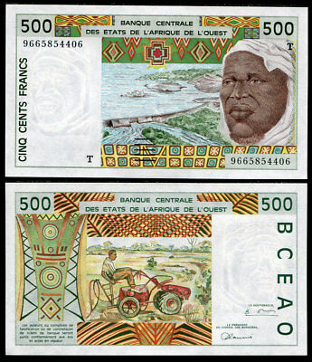 UNC West African States TOGO 500 Francs T 1985 P-806Th