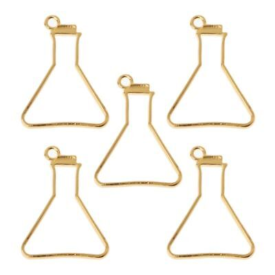 5Pcs Science Experiment Cup Blank Frame Pendant Open Bezel Setting Resin Jewelry