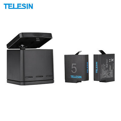 TELESIN Rechargeable Triple Charger Battery Charging Box Kit for GoPro Hero R3T9