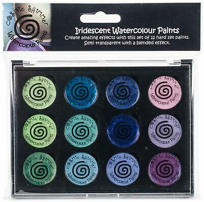 Cosmic Shimmer Iridescent Watercolor Palette Set 5-Greens & Purples