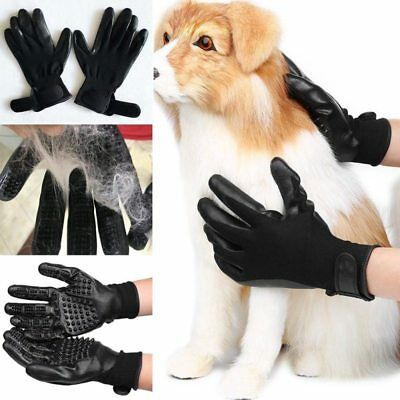 Pet Grooming Glove Cat & Dog Brush Glove Hair Removal Hand On Deshedding Kit