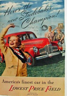 1939 Studebaker Champion Sedan Coupe Custom Color Sales Brochure Original
