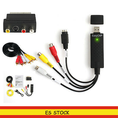 Easycap USB Video Audio Conversor VHS a DVD Captura Tarjeta Adaptador RCA  KIT