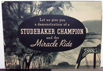 1935 Studebaker Champion Dictator Commander President Sale Brochure Folder Orig