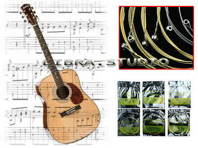Set of 6 Steel Strings for Acoustic Guitar 150XL 1 M
