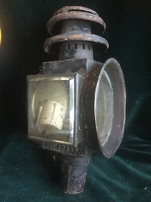 Large Antique Coach / Carriage Lamp - 13 Inches Tall- Restoration Project