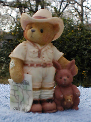 Bazza~Australia~Lost Down Under~Cherished Teddies~NIB