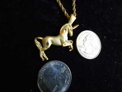 bling gold plated unicorn MYTH celt LEGEND druid pendant charm necklace JEWELRY