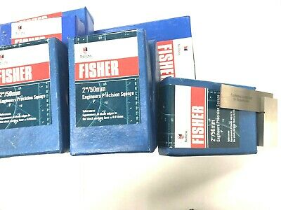 """Fisher 2"""" 50Mm Engineers Precision Steel Square Bs939"""