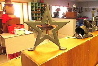 "Texas  Barn    Star   9 ""  Roof   Finial  Cast Iron"