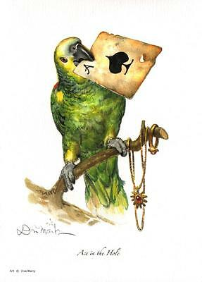 Ace in the Hole Pirate Parrot Don Maitz Signed Maritime Art Print
