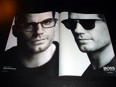 HUGO BOSS EYEWEAR 2-Pg Magazine Print Ad Advertisement HENRY CAVILL