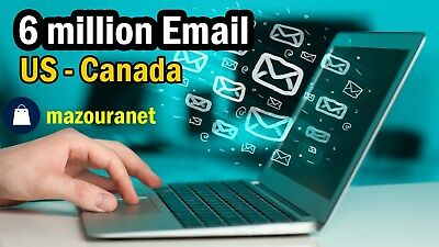 Database Email List marketing No Spam/USA&Canada 6.5 Million Email Send inbox 🔥