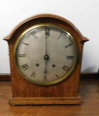 oak cased winterhalder & hoffmeir ting tang  striking bracket clock