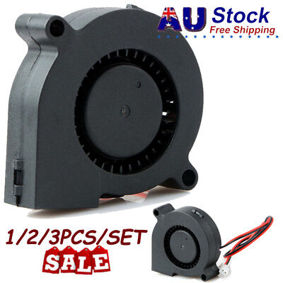 1/2/3 PCS Silent DC 24V 5015 Cooling Blower Fan Brushless Cooler for 3D Printer