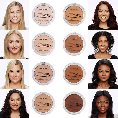 PHOERA Hydrating Powder Foundation Face Pressed Powder Facial Beauty Cosmetic