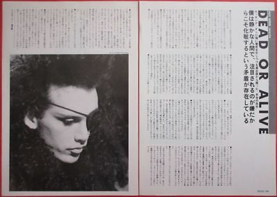 1985 Pete Burns Dead Or Alive Clipping Japan Magazine Oi V16 2Page