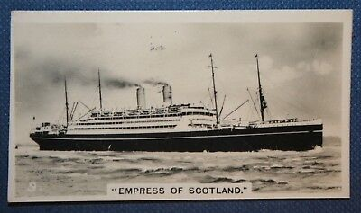 SS Empress of Scotland   Canadian Pacific Liner   Vintage Photo Card  VGC