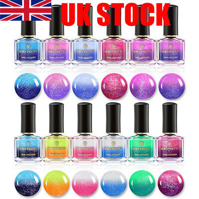 BORN PRETTY 6ml Thermal Nail Art Polish Sunlight Color Changing Peel Off Varnish