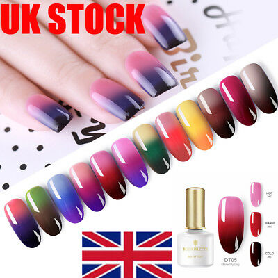 BORN PRETTY 12 Colors Changing Chameleon Nail Polish Set Glitter Varnish 6ml UK