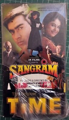 Old VHS VIDEO CASSETTE TAPE BOLLYWOOD INDIA MOVIE Sangram KARISHMA AYESHA AJAY