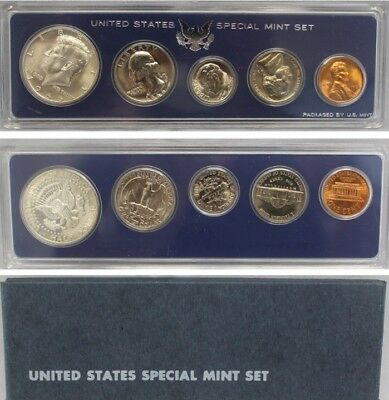 1966 SMS Special Mint set with 40% Silver Kennedy half dollar (OGP) 5 coins